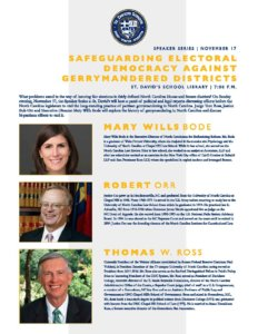 Speaker Series: Safeguarding Electoral Democracy Against Gerrymandered Districts @ St. David's School Performing Arts Center | Raleigh | North Carolina | United States